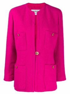 Chanel Pre-Owned 1980s multi-pockets boxy jacket - Pink