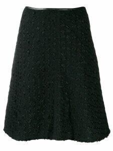 Prada Pre-Owned 1990s checked jacquard A-line skirt - Black