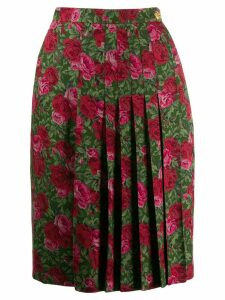 Yves Saint Laurent Pre-Owned 1970's floral print skirt - Green