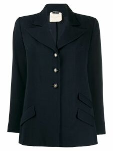 Chanel Pre-Owned '1980s buttoned blazer - Blue