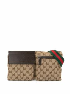 Gucci Pre-Owned Shelly Line GG Pattern belt bag - Brown