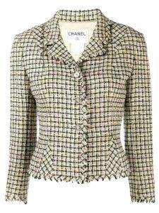 Chanel Pre-Owned 2003's tweed slim-fit jacket - Neutrals