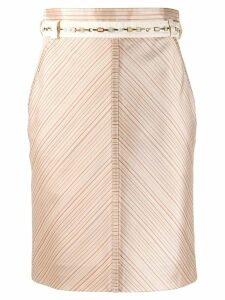 Louis Vuitton Pre-Owned 2000s V-striped straight skirt - Neutrals