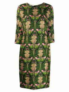Prada Pre-Owned Arabesque print dress - Green