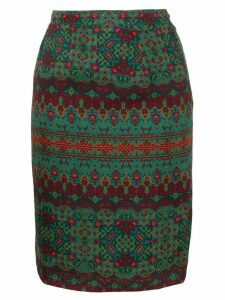 Yves Saint Laurent Pre-Owned patterned skirt - Green