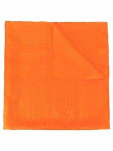 Hermès Pre-Owned logos scarf - Orange