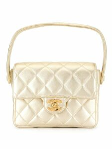 Chanel Pre-Owned Quilted Mini Hand Bag - Gold