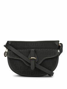 Fendi Pre-Owned Zucchino pattern shoulder bag - Black