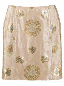 Prada Pre-Owned 1990's jacquard mini skirt - Neutrals