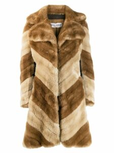 Dolce & Gabbana Pre-Owned '1990s faux fur coat - Neutrals