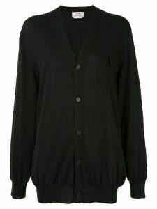Hermès Pre-Owned Long Sleeve Cardigan - Black