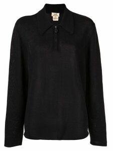 Hermès Pre-Owned Long Sleeve Zip Up Sweatshirt - Black