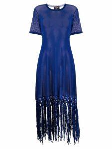 Jean Paul Gaultier Pre-Owned fringed tulle dress - Blue
