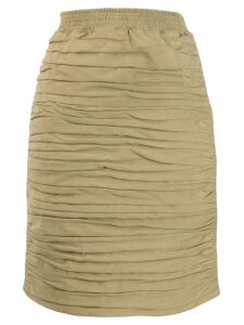 GUCCI PRE-OWNED pleated skirt - Neutrals