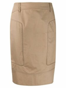 Gucci Pre-Owned seam detailed pencil skirt - Neutrals