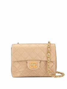 Chanel Pre-Owned CC logos single chain shoulder bag - Neutrals