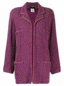 Chanel Pre-Owned loose tweed jacket - Purple