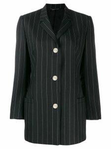 Versace Pre-Owned 1990's pinstripe blazer - Black