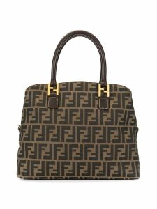Fendi Pre-Owned Zucca Logos Hand Bag - Brown