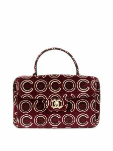 Chanel Pre-Owned CC velvet hand bag - Red