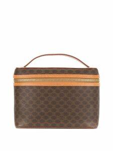 Céline Pre-Owned Macadam pattern vanity bag - Brown