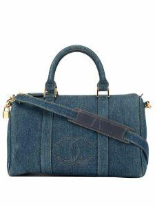 Chanel Pre-Owned CC stitch denim Boston 2way bag - Blue