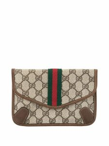 Gucci Pre-Owned Shelly Line pouch - Brown