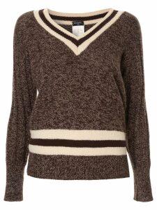 Chanel Pre-Owned cashmere V-neck jumper - Brown