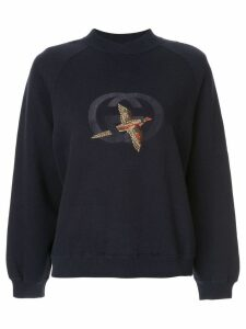 Gucci Pre-Owned bird GG embroidery sweatshirt - Blue