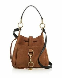 See by Chloe Tony Suede and Leather Shoulder Bag