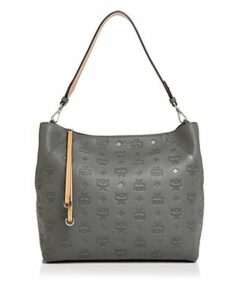 Mcm Klara Monogrammed Leather Hobo