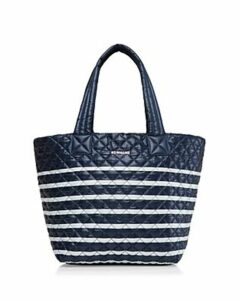 Mz Wallace Striped Medium Metro Tote