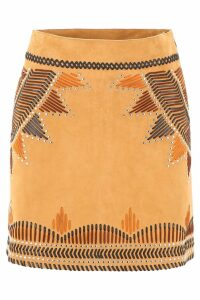 Alberta Ferretti Ethnic Mini Skirt