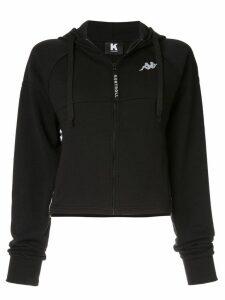 Kappa Kontroll zip front logo hoodie - Black