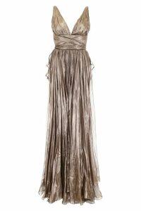 Maria Lucia Hohan Metallic Silk Lucia Dress