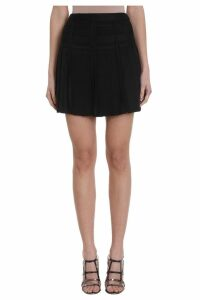 Giovanni Bbedin Black Viscose Skirt