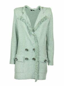 Elisabetta Franchi Celyn B. Knit Double-breasted Mini Dress