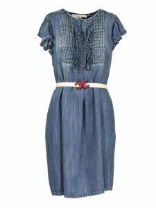 Elisabetta Franchi Celyn B. Mini Dress In Denim