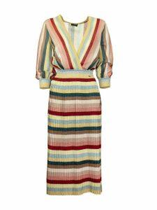 Elisabetta Franchi Celyn B. Knit Dress With Stripes