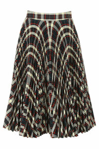 Calvin Klein Pleated Check Skirt