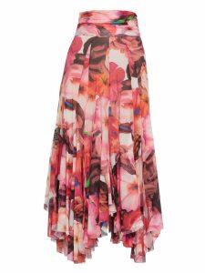 MSGM Floral Pattern Skirt