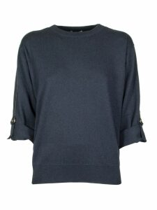 Brunello Cucinelli Blue Crew Neck Sweater
