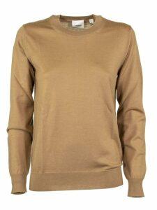 Burberry Bempton Vintage Check Detail Merino Wool Sweater