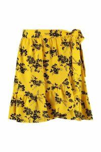 Michael Kors Printed Wrap Skirt