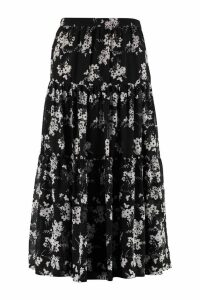 Michael Kors Printed Georgette Skirt