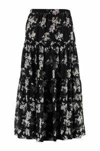 Michael Kors Printed Georgette Skirt