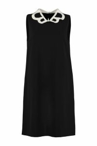 Boutique Moschino Crepe Dress With Collar