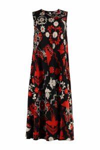 RED Valentino Printed Silk Midi Dress