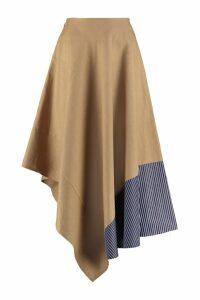 Loewe Asymmetrical Linen Skirt