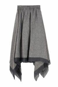 Fabiana Filippi Asymmetrical Linen Skirt